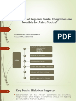 Feasible Aspects of Regional Integration for Africa SYPALA 2015