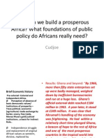 How Can We Build a Prosperous Africa