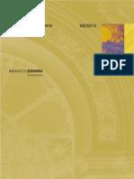 Boletín Estadístico Agosto 2015 (Banco de España)