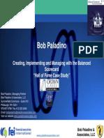 FEI Bob Paladino Scorecard Hall of Fame Case