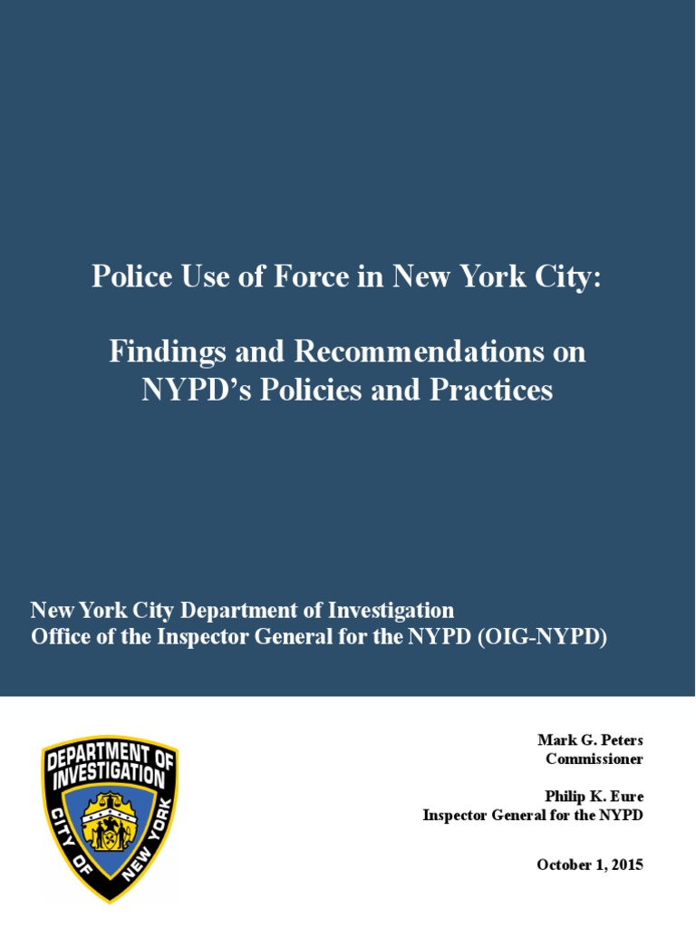 nypd guidelines for use of force in new york city new york city rh scribd com nypd administrative guide 2017 nypd administrative guide download