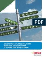 PERU - EDUCACIÓN a LO LARGO de LA VIDA Medios de Articulacion en El Sistema Educativo Peruano IPEBA