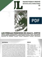 Juan L. Ortiz - Revista Xul N° 12