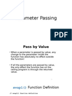 Parameter Passing & Pointers