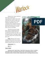 Pathfinder Warlock Class W.I.P.
