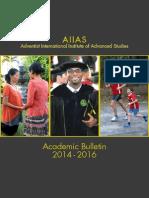 Academic Bulletin 2014-2016