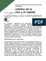 Contrasentidos de La Inmigración y El Capital