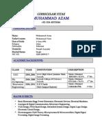 Muhammad Azam Engineering CV