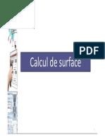 Calcul de Surface