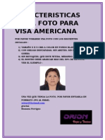 Caracteristicas de La Foto Para Visa Americana