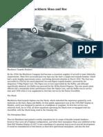 Fleet Air Arm 3- Blackburn Skua and Roc