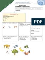 prueba primero basico de fonemas  B, Ce , Ci, Ch, Sinonimos, Art Indef), Texto Instructivo