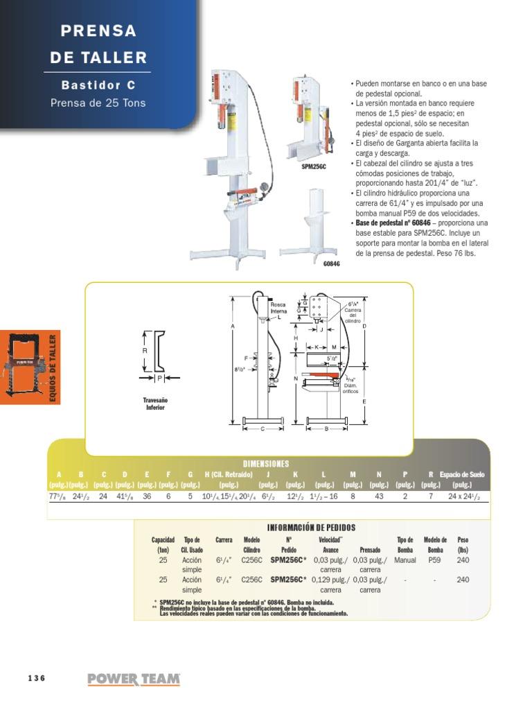 Prensas Hidraulicas POWER TEAM
