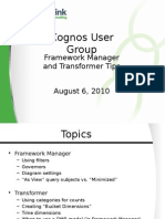 Framework Manager and Transformer Tips v 3