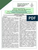 Seminario Crisis Alimentaria - Programa y Ponentes Actualizado 10sep2012