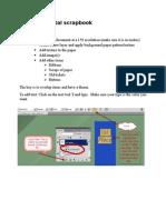 create a digital scrapbook