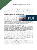 Aeroglob - 1 Iulie 2014 - Progresses of Mitsubishi Regional Jet Aircraft