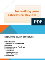 outlining writing lit review