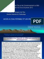 Thematique 1-1 Acces a l Eau Potable Et Les OMD Au Mali