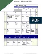 2015 wrestling schedule