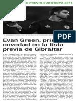 151001 La Verdad CG- Evan Green, Principal Novedad en La Lista Previa de Gibraltar p.14