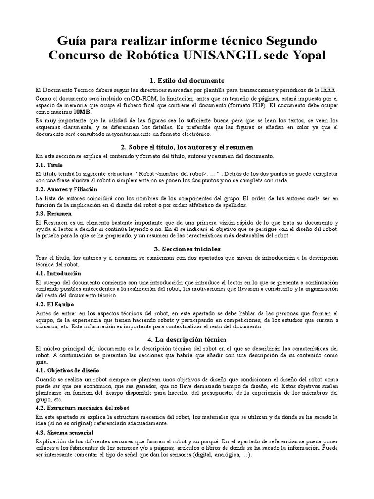 Lujo Plantilla De Formato Ieee Imagen - Colección De Plantillas De ...