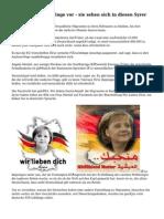 Deutsche Flüchtlinge vor - sie sehen sich in diesen Syrer