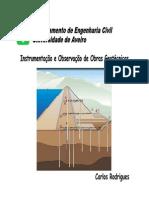 observação e instrumentação de obras geotecnicas
