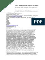 El Programa Nacional de Formación en Sistemas de Calidad y