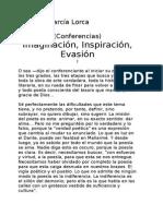 García Lorca Imaginación Inspiración Evasión