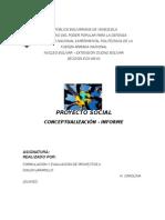 Informe Formulacion y Eval de Proyecto - Proyecto Social