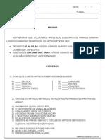 Atividade de Portugues Artigos 4º Ou 5º Ano