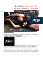 Horror Attack Highlights Dire Need for Mental Health Care Reform in Thailand