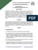 Convocatoria Mejor Tesis Posgrado 20151