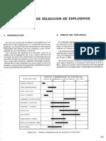 Criterios de Seleccion de Explosivos