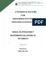 Manual de Operaciones Planta PTAM