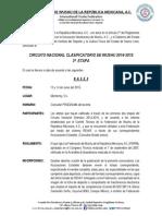 Convocatoria Circuito Nacional Selectivo 2014-2015 3a Etapa