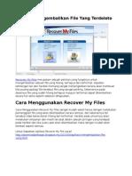 Aplikasi Recover My Files