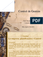 La Empresa, Planificación y Control