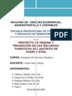 Proyecto de Mejora y Promoción de Los Recursos Turísticos Del Distrito de Puerto Eten