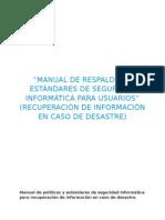 Manual de Respaldos y Estándares de Seguridad Informática Para Usuarios