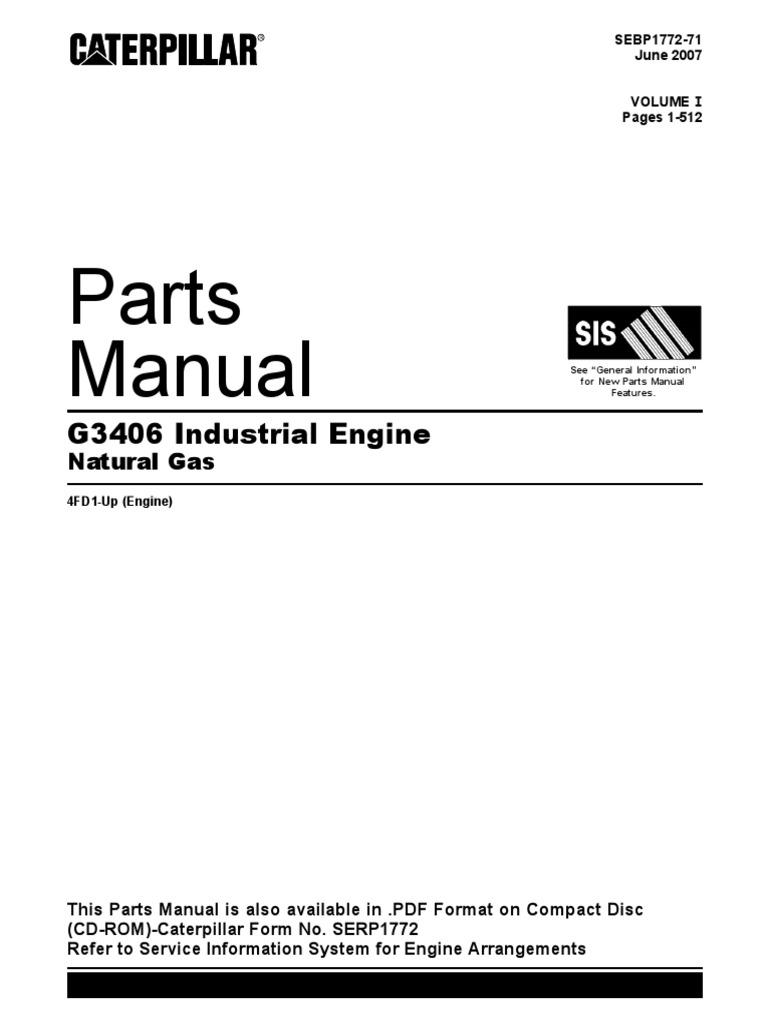 parts manual cat g3406 vol 1 C15 Cat Parts Diagram Cat 2005 Fork Lift Wire Diagram