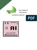 ALUMINIO ALIMENTOS