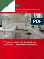 Propuesta Para La Optimizacion Laboratorio Quimica
