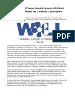 Donne Gestione Acqua il modello Olandese si può copiare (WLI)