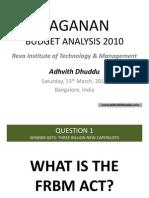 AAGANAN Budget Analysis 2010