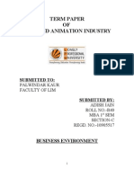 PESTLE analysis of Film and Animation Industry
