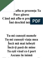 Cand Ma Aflu-n Prezenta Ta