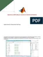 Algoritmo Matlab de Un Sistema de Pendulos