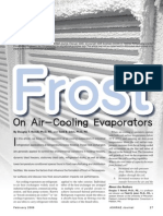 Frost on air-cooling evaporators